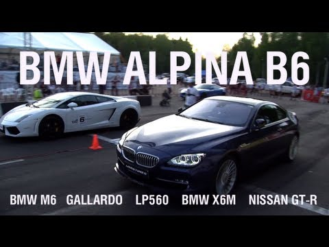 BMW Alpina B6 vs Lamborghini LP-560-4 vs BMW M6 vs X6M