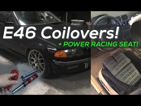 Budget E46 Drift Car - Cheap Coilover suspension and Racing seat install!