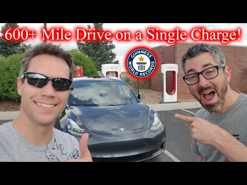 600 Hypermile In A Tesla Model 3! World Record Live Video 2!