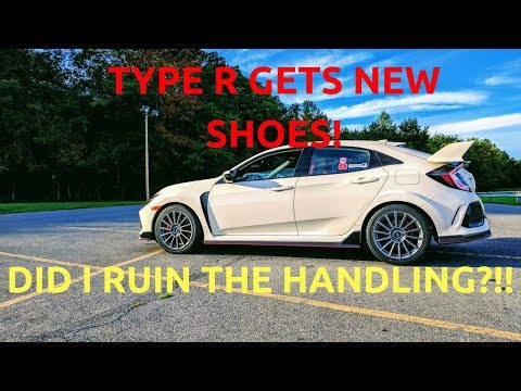 NEW Honda Civic Type R gets NEW WHEELS! (How does it handle??)