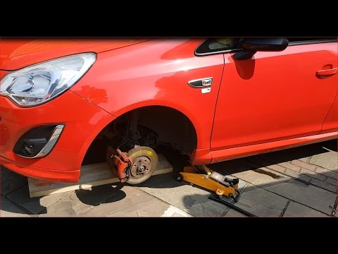 How to change front brake Discs & Pads on Vauxhall Corsa D/Opel