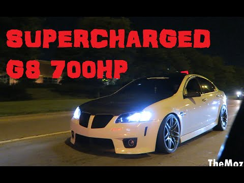 Ride in 700rwhp Supercharged Pontiac G8 & Turbo Supra