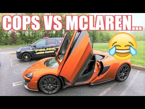 STRAIGHT PIPED McLaren Rev Bombs a Police Event! (I