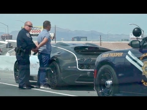 COPS ARREST BUGATTI OWNER FOR GOING TOO SLOW!!!