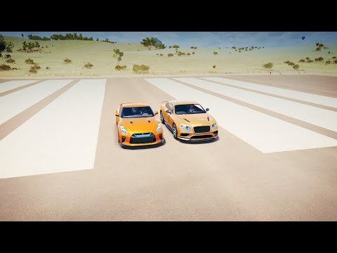 Forza Horizon 3 - 17 Nissan GTR vs 17 Bentley Continental SUPERSPORTS Drag Race!