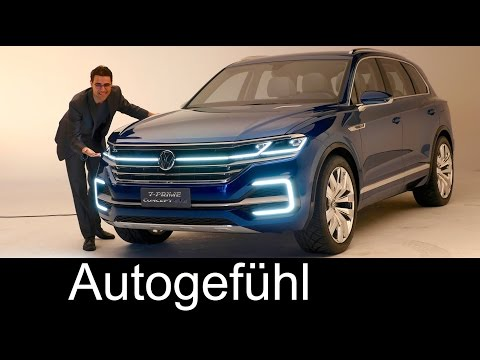 All-new VW Touareg 3 Preview 2017 as Volkswagen T-Prime Concept GTE