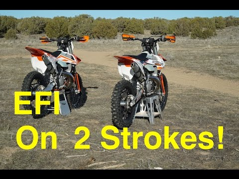 EFI on 2018 KTM 2 Strokes!?  Fuel Injection is HERE in 2018! - Episode 227