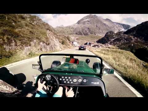 Caterham 485 on Sustenpass //pure roads  (Porsche Turbo, Cayman S and Nissan GT-R 2015)