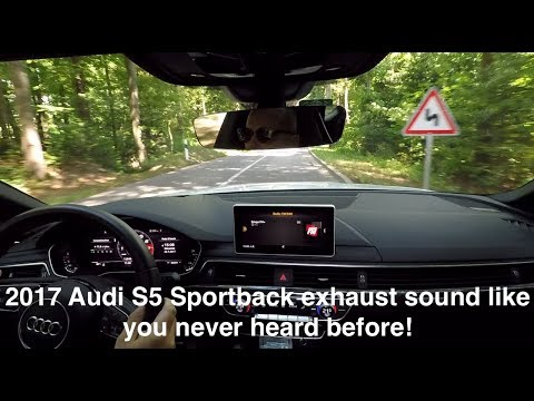 2017 Audi S5 Sportback exhaust sound like you never heard before!