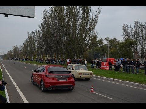 Dragracing Горловка. Ваз 2101 и Honda Civic