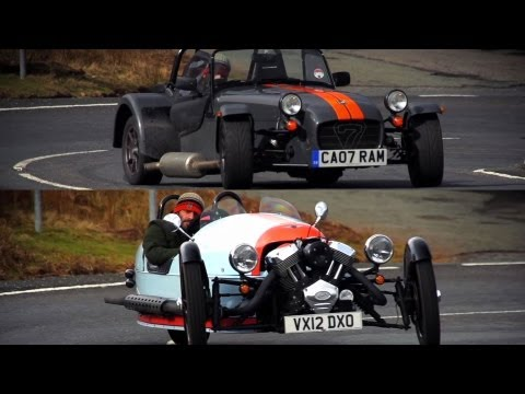 Morgan Three Wheeler and Caterham Seven: Brilliant British Flyweights - /CHRIS HARRIS ON CARS