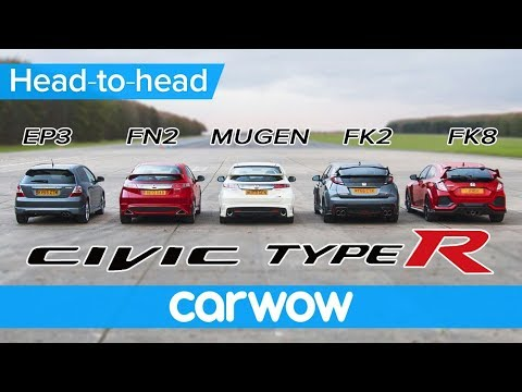 Honda Civic Type R generations DRAG & ROLLING RACE, BRAKE TEST and review | Head2Head