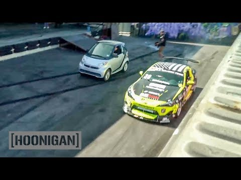 [HOONIGAN] DT 077: Scion FR-S Race Car VS Smart Car #SPACERACE