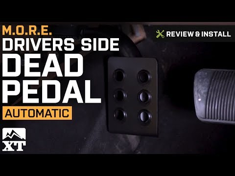 Jeep Wrangler M.O.R.E. Drivers Side Dead Pedal (2007-2017 JK) Review & Install