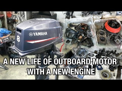 ⚙️🔩🔧YAMAHA 8 outboard motor. A new life with another engine.