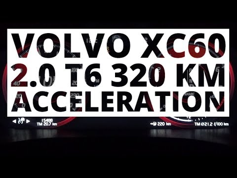 Volvo XC60 2.0 T6 320 KM (AT) - acceleration 0-100 km/h