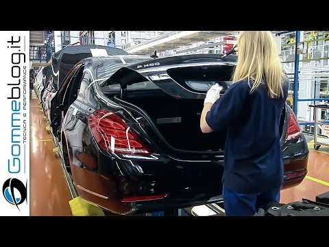 Mercedes S-Class Luxury CAR FACTORY - How It