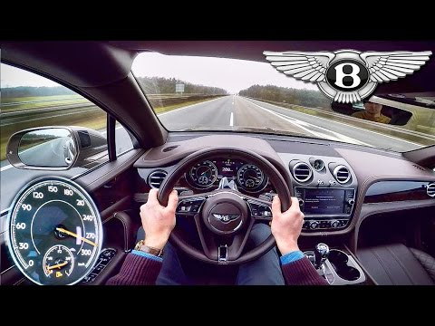 Bentley Bentayga Acceleration POV Autobahn 290 km/h Drive by AutoTopNL