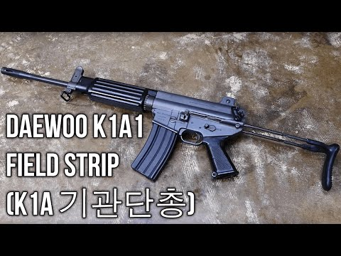 Daewoo K1A1 Field Strip (K1A 기관단총)