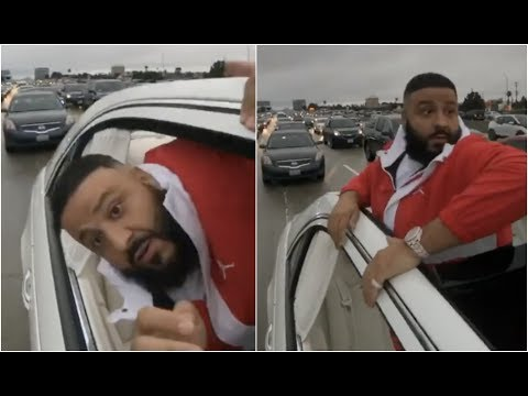 DJ Khaled Takes Top Off Maybach In Middle Of Traffic After Song w Future Goes Plantinum