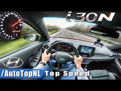 Hyundai i30N AUTOBAHN POV - ACCELERATION & TOP SPEED - by AutoTopNL