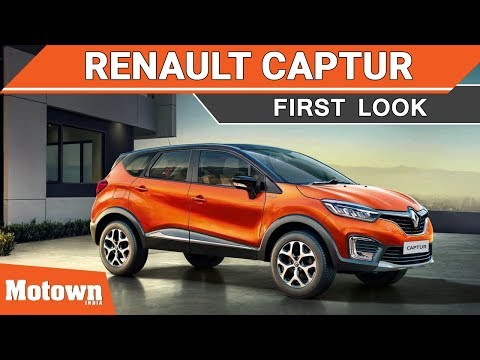 Renault Captur premium SUV | Exclusive First Look in India | Motown India