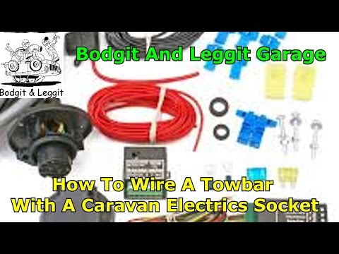 how to wire a caravan socket electrics using a special relay box  part 3 bodgit and leggit garage