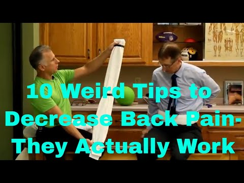 10 Weird Tips to Decrease Your Back Pain (that actually work).