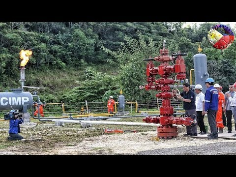 PRESIDENT DUTERTE LEADS CEREMONY OF GAS PRODUCTION OF THE ALEGRIA OILFIELD