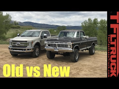 Old vs New: 1974 vs 2017 Ford F-250 - How Much Has The Super Duty Changed in 43 Years?