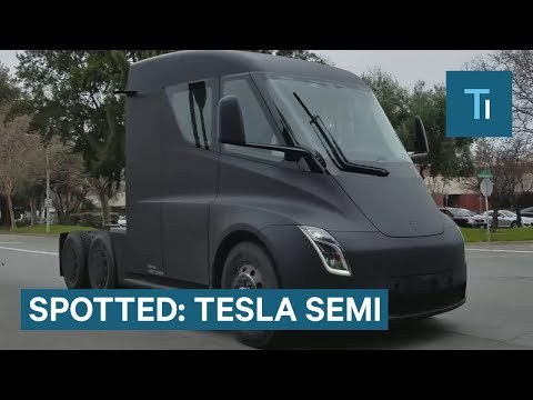 A Tesla Semi Was Spotted On A Public Road — Here