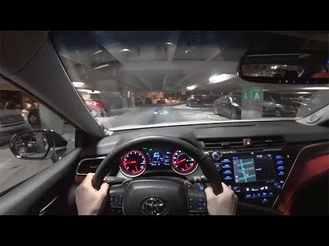 2018 Toyota Camry XSE V6 Night Drive - POV First Impressions (Binaural Audio)