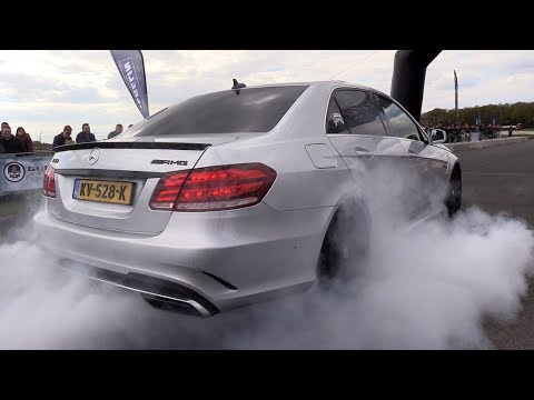Mercedes-Benz E63 AMG - BURNING Rubber & DRAG RACING!