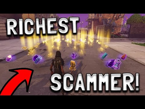 richest scammer gets scammed for whole account in fortnite save the world pve eazydrop - fortnite save the world pc requirements
