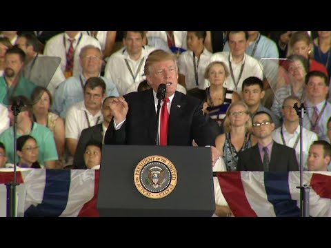 President Trump speaks at commissioning of USS Gerald R. Ford