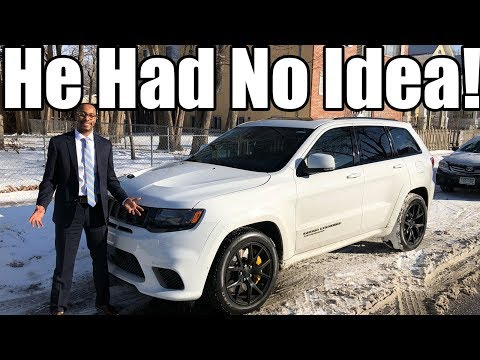 I Scared The SH** Outta Him Driving Around In My Jeep Trackhawk!! 😈🤣