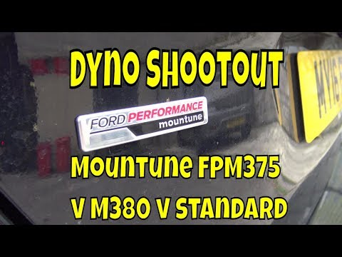 Ford Focus RS : day 192 : 2nd dyno run - Mountune v Standard